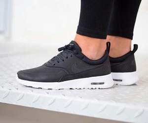 black, nike, and sport image