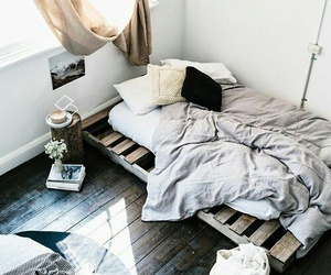 bed, house, and bedroom image