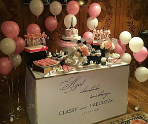 balloons, cakes, and pink image