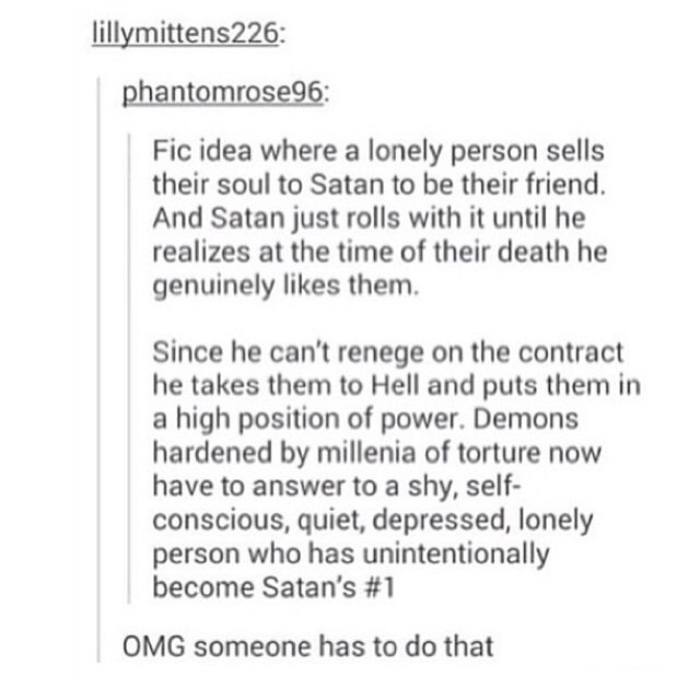Someone please write this uploaded by FallOutGirl