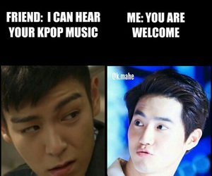 exo, kpop, and meme image