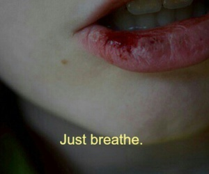 breathe, grunge, and mouth image