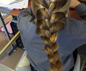 blonde, braid, and french image