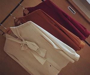 blouse, kfashion, and dots image
