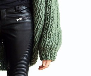 fashion, green, and black image