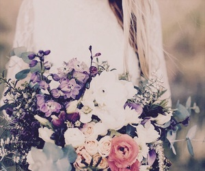 flowers, bouquet, and wedding image