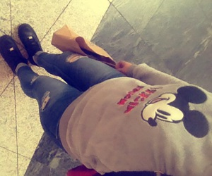 fashion, mickey mouse, and nike air force image