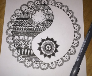 black and white, doodle, and drawing image