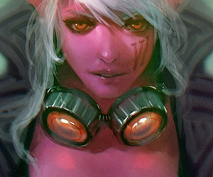 league of legends and VI image