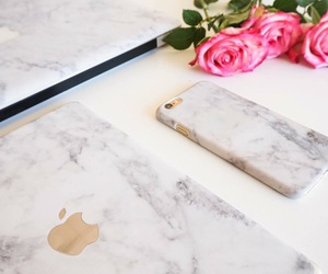 iphone, marble, and rose image