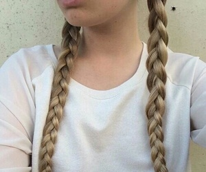 braid, hair, and grunge image