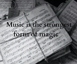 music, magic, and quotes image