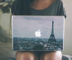 paris, apple, and laptop image