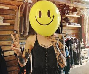 tattoo, smile, and balloon image