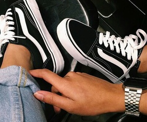 black, vans, and stylé image