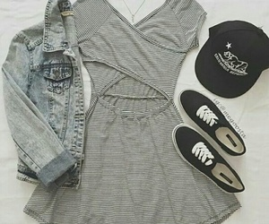 dress, outfit, and vans image