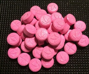 pills, pink, and drugs image