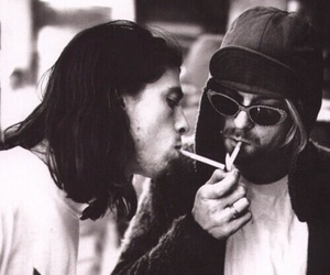 kurt cobain, dave grohl, and nirvana image