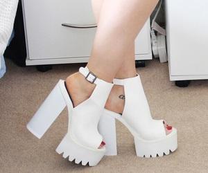 heels, platform, and pumps image