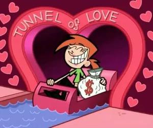 love, money, and cartoon image