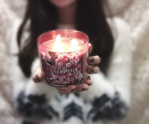 aesthetics, brunette, and candle image