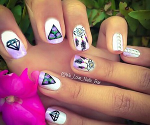 flowers, nails, and triangle image