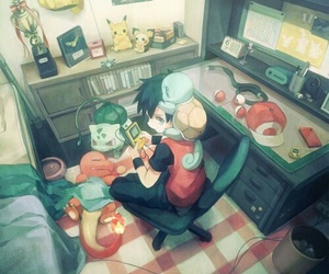 pokemon, red, and squirtle image