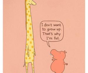 adorable, funny, and giraffe image