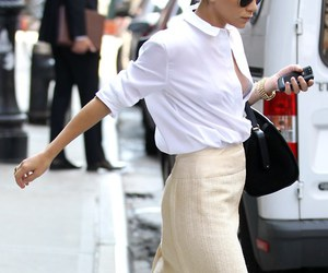 blouse and pencil skirt image