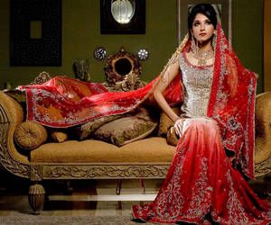 bride, fashon, and india image