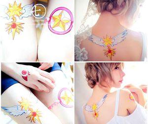 anime, sakura, and tatto image