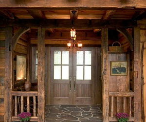 cabin, chalet, and decor image