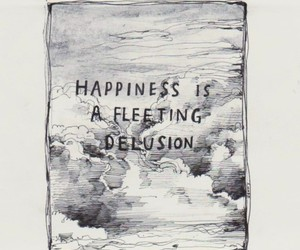 happiness, quote, and delusion image