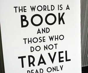 quote, travel, and text image