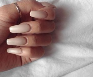 nails, Nude, and style image