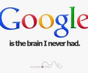 google, brain, and text image
