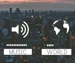 music, world, and city image