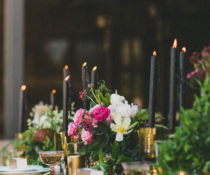 candles, design, and dinner image