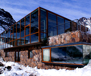 house, snow, and architecture image