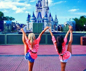 disneyland, stretch, and cheerleading image