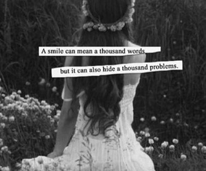 quote, smile, and problem image