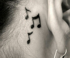 tattoo, music, and notes image