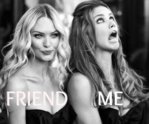 friends, model, and funny image