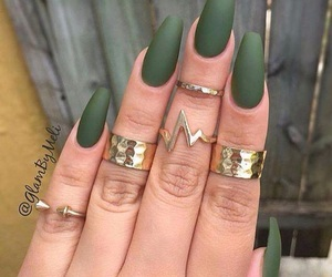 color, jewelry, and matte nails image
