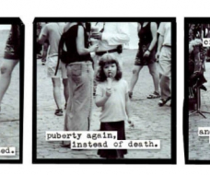 a softer world, black and white, and little girl image