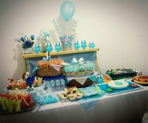 baby, blue, and cake image