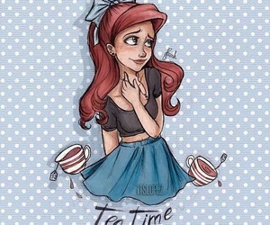 ariel, ariana grande, and art image
