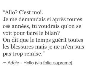 french, text, and Adele image