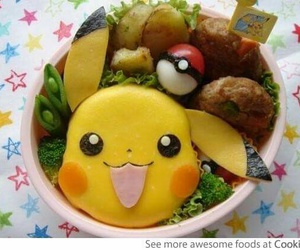 food, pokemon, and pikachu image