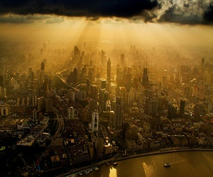 beauty, city, and clouds image